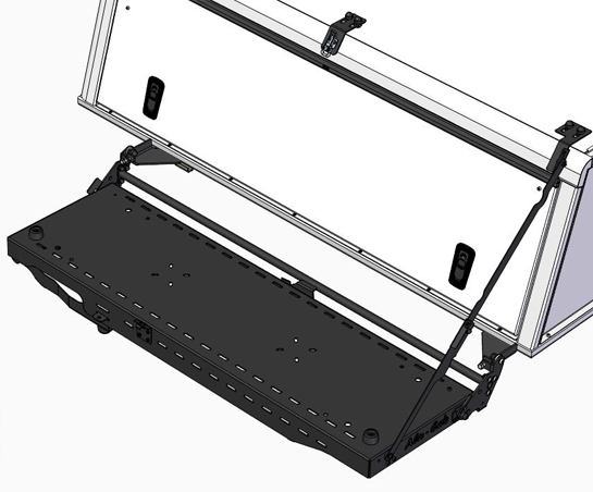 Recovery Trax Side Folding Bracket/Table
