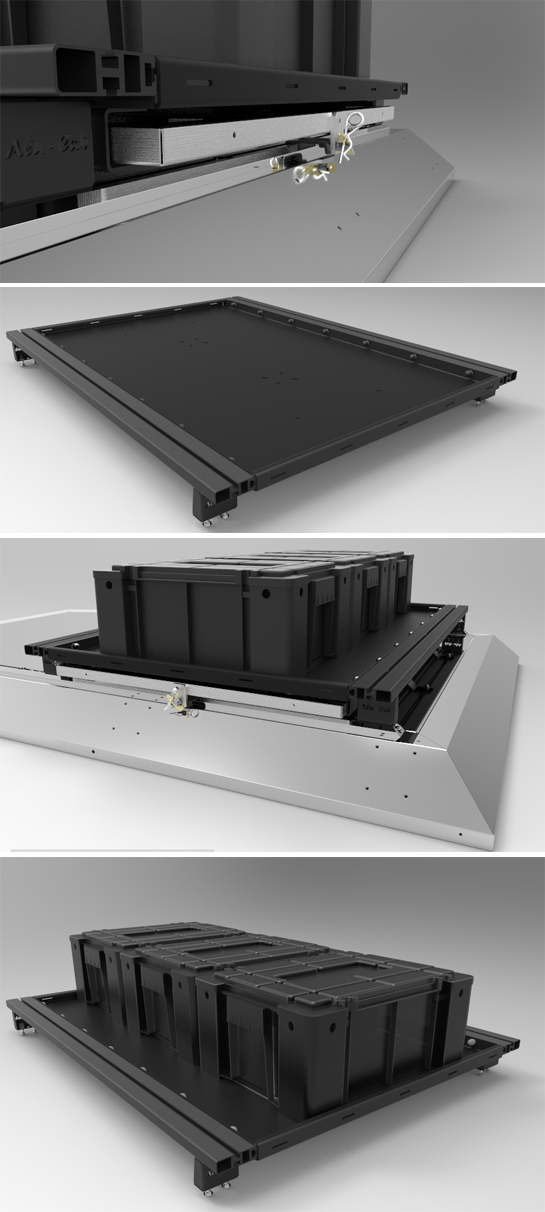 Roof Rack Tray 2.0 with Table Bracket (Excludes Table)