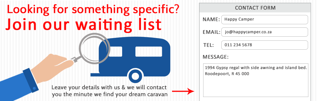 Click for an Online Caravan Valuation request